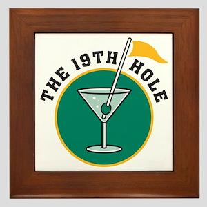 19th hole Framed Tile