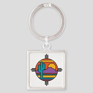 Desert Square Keychain