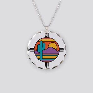 Desert Necklace Circle Charm