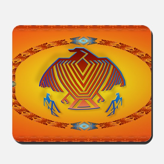 Wall Peel Big Thunderbird Oval Mousepad