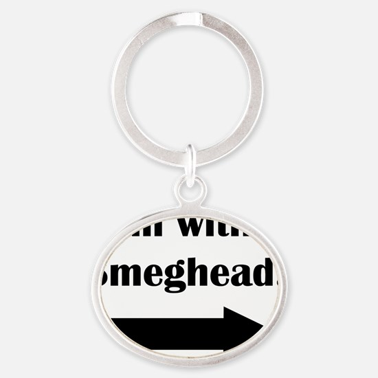 smeghead Oval Keychain