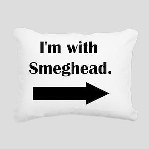 smeghead Rectangular Canvas Pillow