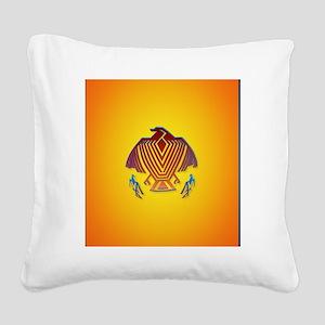 Heart Jewel Big Thunderbird Square Canvas Pillow