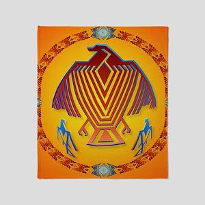 Big Thunderbird-circle Throw Blanket