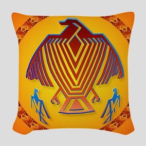 Big Thunderbird-circle Woven Throw Pillow