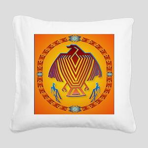 Big Thunderbird-circle Square Canvas Pillow