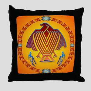 Big Thunderbird-circle Throw Pillow
