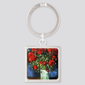 Red Poppies -NC Square Keychain