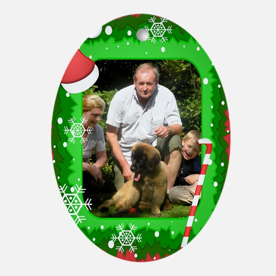 Personalizable Christmas Photo Frame Ornament (Ova