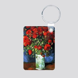 Red Poppies -PC Aluminum Photo Keychain