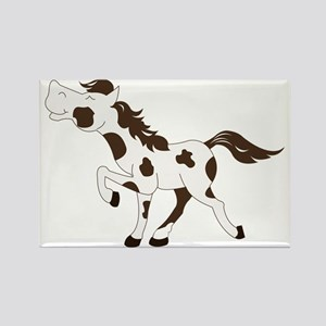 Brown and White Paint Pinto Horse Rectangle Magnet