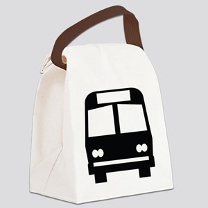 forwhite_bus_stop_oddsign1 Canvas Lunch Bag