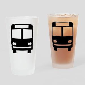 forwhite_bus_stop_oddsign1 Drinking Glass