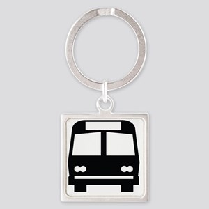 forwhite_bus_stop_oddsign1 Square Keychain