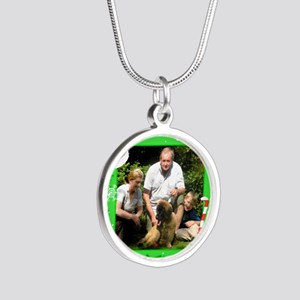 Personalizable Christmas Photo Frame Silver Round