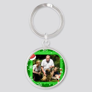 Personalizable Christmas Photo Frame Round Keychai