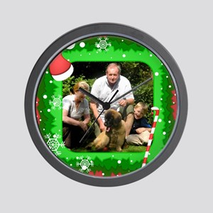 Personalizable Christmas Photo Frame Wall Clock