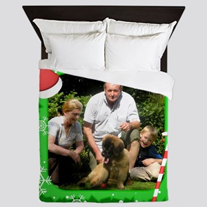 Personalizable Christmas Photo Frame Queen Duvet