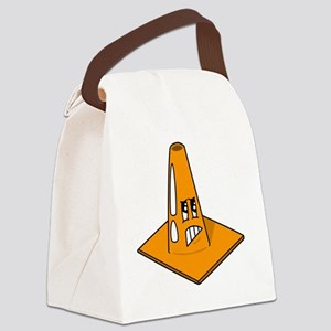 Scared Cone Canvas Lunch Bag