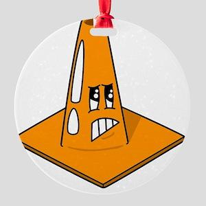 Scared Cone Round Ornament