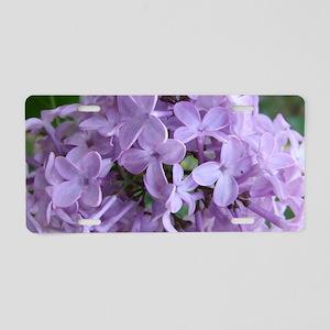 LilacLaptopSkin Aluminum License Plate