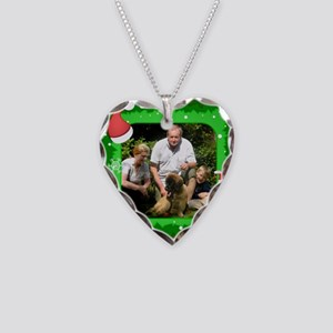 Personalizable Christmas Photo Frame Necklace Hear