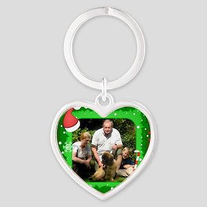 Personalizable Christmas Photo Frame Heart Keychai