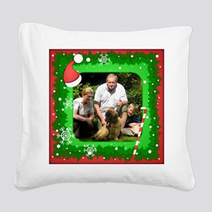 Personalizable Christmas Photo Frame Square Canvas