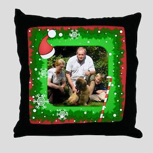 Personalizable Christmas Photo Frame Throw Pillow