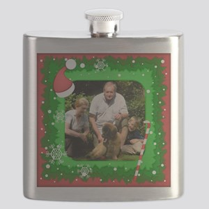 Personalizable Christmas Photo Frame Flask