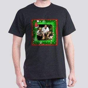 Personalizable Christmas Photo Frame Dark T-Shirt