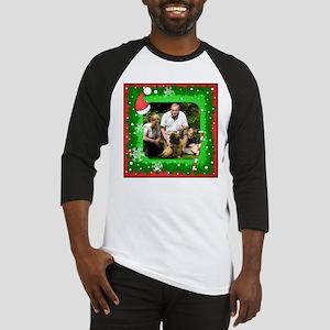 Personalizable Christmas Photo Frame Baseball Jers