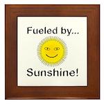 Fueled by Sunshine Framed Tile
