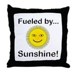 Fueled by Sunshine Throw Pillow