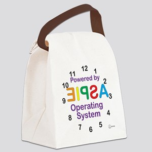 Clock OS Canvas Lunch Bag
