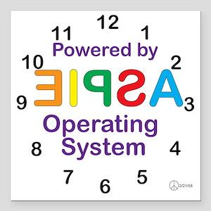 "Clock OS Square Car Magnet 3"" x 3"""