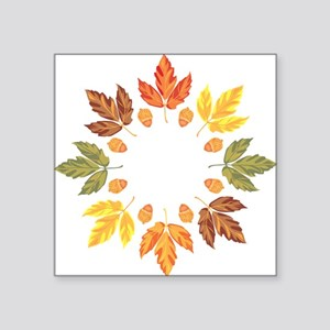 "Autumn leaves Square Sticker 3"" x 3"""