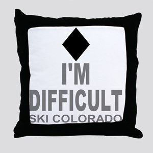 Difficult_Ski_Colorado Throw Pillow