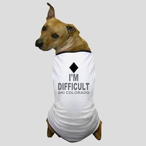 Difficult_Ski_Colorado Dog T-Shirt