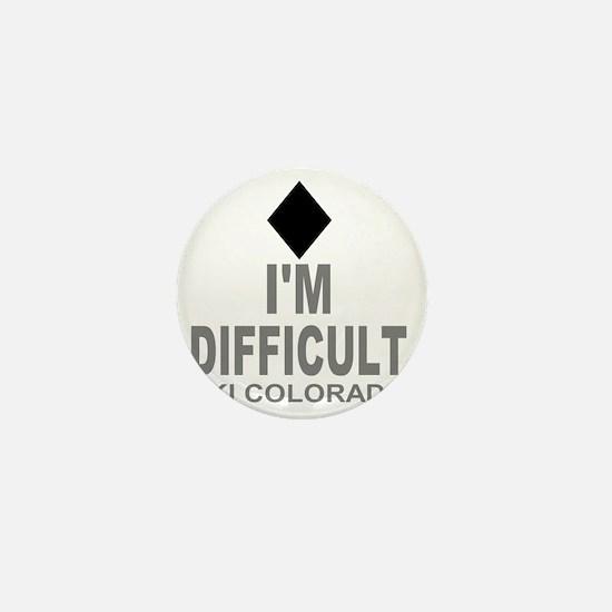 Difficult_Ski_Colorado Mini Button