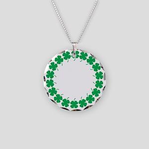 Shamrocks Necklace Circle Charm