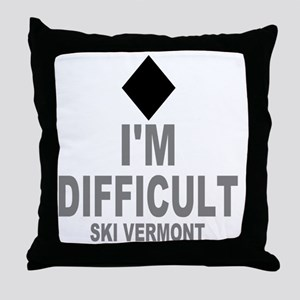 Difficult_Ski_VERMONT Throw Pillow
