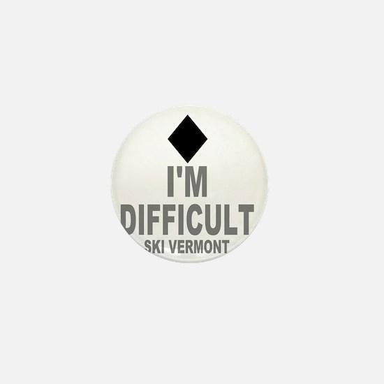 Difficult_Ski_VERMONT Mini Button