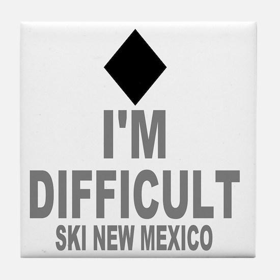 Difficult_Ski_NEW MEXICO Tile Coaster