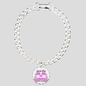Save The Hooters Charm Bracelet, One Charm