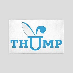 thump_logo_blue 3'x5' Area Rug