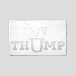 thump_logo_white_blank 3'x5' Area Rug