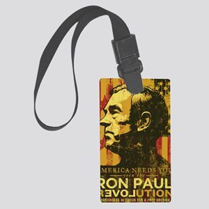 Ron Paul Distressed Poster 2009 Large Luggage Tag