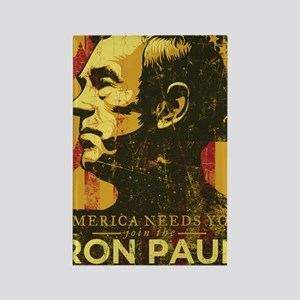 Ron Paul Distressed Poster 2009 Rectangle Magnet