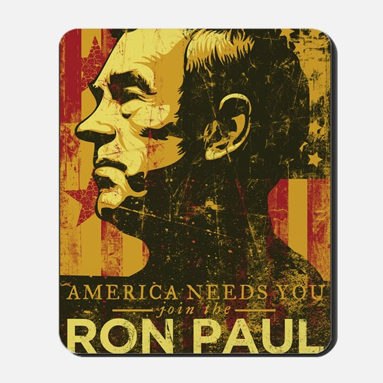 Ron Paul Distressed Poster 2009 Mousepad